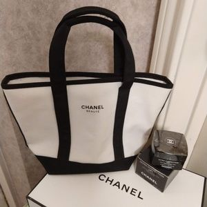 Chanel VIP Beauty Mini Canvas Tote
